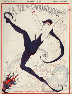 La Vie Parisienne  1922 1920s France Drawing  - La Vie Parisienne  1922 1920s France Fine Art Print
