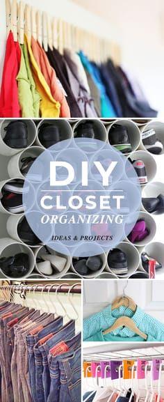 DIY Closet Organizin