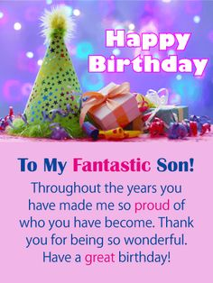 Send Free Got Star Power - Happy Birthday Card for Son to Loved Ones on Birthday & Greeting Cards by Davia. It's free, and you also can use your own customized birthday calendar and birthday reminders. Birthday Greetings For Myself, Special Happy Birthday Wishes, Birthday Messages For Son, Unique Birthday Wishes, Birthday Greeting Message, Son Birthday Quotes, Happy Birthday For Him, Birthday Wishes For Myself, Sons Birthday