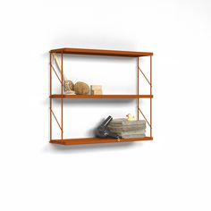 Tria Pack Wall Shelving System Orange by Mobles 114