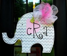 Giraffe baby girl ribbon wreath in pinks for nursery, hospital ...