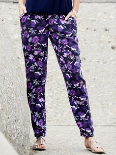 M&Co. Women Floral print soft trousers