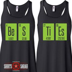 Women's Besties Science Tank Tops - Matching Periodic Table Element Best Friend Shirts - Flowy Tanks on Etsy, $44.98
