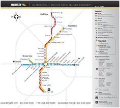 MARTA rail map -- we are located next door to midtown station - allowing easy…