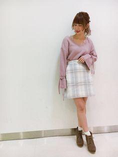 【原宿店】NEW♡シャギーチェックスカート