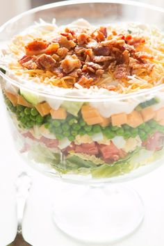 Everyone needs a great recipe for the classic 7 layer pea salad!!