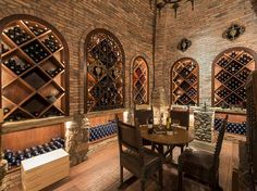 Brick wine cellar