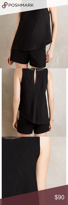 ❤️SALE❤️ Anthropologie Black Romper New without tags! Just tried on. Very cute and sophisticated. Perfect for any occasion! Anthropologie Pants Jumpsuits & Rompers