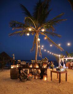 Tequilia bar for our wedding at akiin beach club , Tulum