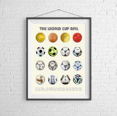 World-Cup-Ball  Fußball  Evolution von Soccer  von PigeonStudios