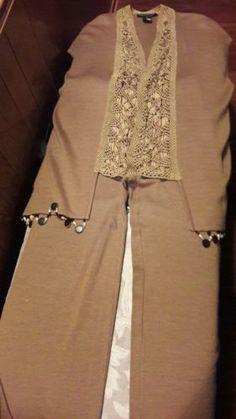 Vintage-Andrea-Jovine-Beaded-Vest-and-Pants-size-M