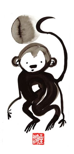 °Monkey Chinese New Year Zen Chinese Zodiac by ZenBrush