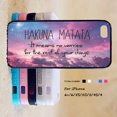 HAKUNA MATATA case for iPhone 6 Plus/6/5/5S/5C/4S/4 – iHomeGifts