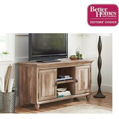 """Better Homes and Gardens Crossmill Collection TV Stand for TVs up to 65"""" @bhg @hoosierhomemade #bhglivebetternetwork"""
