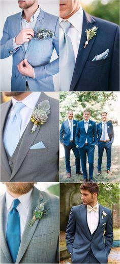 dusty blue wedding suits ideas for groomsmen