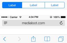 Medialoot - Free iOS 7 UI Kit