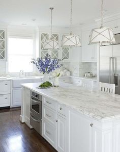 Marble Kitchen by Martha O'Hara Interiors