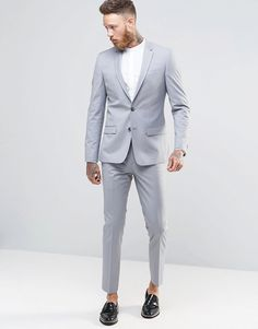 Image 1 of River Island Skinny Fit Suit In Grey