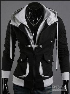 high fashion for men | 2013 NEW High Collar Zip UP Men Fleece hoodies clothing slim for men's ...