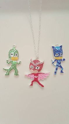 PJ Masks Necklace for Boys or Girls by ItsAGirlThingDesignz