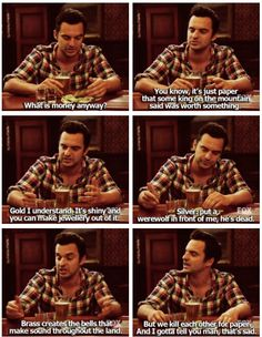 "11 Nick Miller Quotes That Will Make Every English Major Say, ""Same.""You can find New girl quotes and more on our Nick Miller Quotes Th. New Girl Memes, New Girl Funny, Schmidt New Girl Quotes, Tv Show Quotes, Movie Quotes, Couple Quotes, Quotes Quotes, Funny Quotes, Funny Memes"