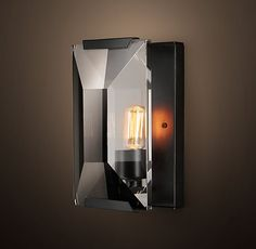 Harlow Crystal Sconce - Grey Iron Restoration Hardware $595
