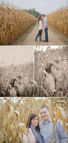 Corn Field Engagement Session // Photos by Brittany and Devin Photo Co
