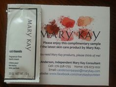 An opportunity to get FREE Mary Kay samples to your door every ...