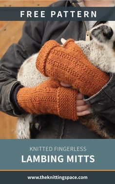 Knitted Fingerless Lambing Mitts Craft these simple and practical knitted mitts ideal for keeping your hands warm as you work. It has a garter band that . Fall Knitting Patterns, Knitted Mittens Pattern, Crochet Mittens, Easy Knitting, Simple Knitting Projects, All Free Knitting, Knitting Stitches, Fingerless Gloves Knitted, Knitted Hats