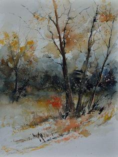 Watercolor by Pol Ledent - watercolor 412102