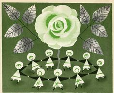 Mary Blair illustration for The New Golden Song Book - 1955