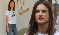 Alessandra Ambrosio goes casual at non-profit art gallery in Brazil