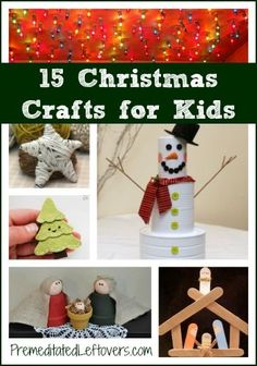 15 Christmas Crafts for Kids- Keep your kids busy on Christmas break with these holiday craft projects. Many of them use basic items from around your home.