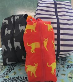 Baggu 3D Zip Box Bag Nylon 3 SIZES AND PATTERNS love these bags!!!