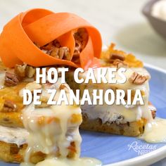 Hot cakes de zanahoria - Ill Tutorial and Ideas Tasty Videos, Food Videos, Healthy Snacks, Healthy Recipes, Deli Food, Mexican Food Recipes, Love Food, Cooking Recipes, Cooking Dishes