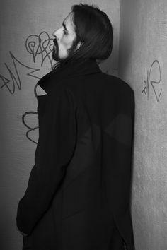 Photo: Tine Hagfors  Hair: Steven Pimjang  Makeup: Sonja C. Pedersen  Model: Joao Friezas    black rat clothing label norwegian fashion dark oslo menswear