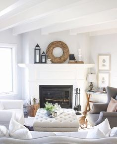 """252 Likes, 16 Comments - Irina (@homesweethillcrest) on Instagram: """"This stunning living room belongs to my friend Allison @thefestivefarmhouse! She is such an amazing…"""""""