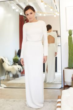 "We Helped Actress Italia Ricci Find Her Perfect Wedding Dress - Houghton ""Cheyne"" gown at Loho Bride, $2,475. from InStyle.com"