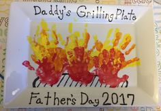 Father's Day grilling plate