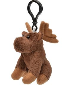 Moose Wildlife Plush Clip-On Stuffed Animal by Unipak