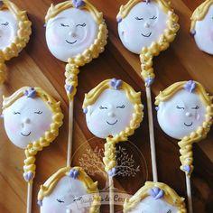 Macarons, Cookie Cake Birthday, Frozen, Cookie Pops, Meringue Cookies, Lollipops, Cakepops, Popsicles, Food To Make