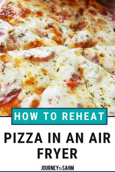 The best way to reheat pizza in an air fryer. Use an air fryer machine to keep your pizza crust crispy, but as healthy as pizza comes. Air Fryer Oven Recipes, Air Frier Recipes, Air Fryer Dinner Recipes, Air Fryer Deals, Reheat Pizza, Pizza Recipes, Healthy Recipes, Delicious Recipes, Fryer Machine