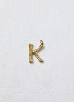 Alphabet K pendant i