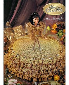 Gems of the South Collection Miss November Annies Calendar Bed Doll Society  Fashion Doll  Crochet Pattern  8011