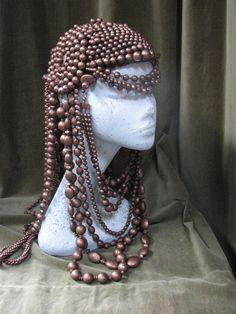Bronze Headpiece Beaded Headdress by BoringSidney on Etsy