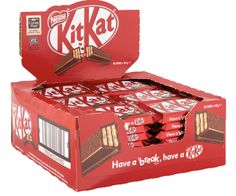Nestle Kitkat 4 Finger 48 x Chunky Bar, Midnight Snacks, Chocolate Packaging, Tree Nuts, Powdered Milk, Pick Me Up, Cocoa Butter, Coffee Break, Peanuts