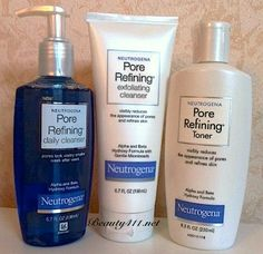 The Neutrogena Pore Refining Collection works great at keeping skin clean, fresh & minimizing pores!