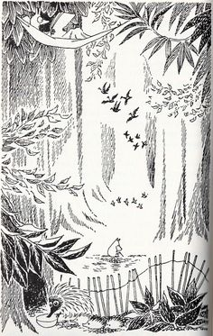 moomin art by Tove Jansson Art And Illustration, Moomin Valley, Tove Jansson, Gravure, Conte, Art Inspo, Painting & Drawing, Collages, Fairy Tales