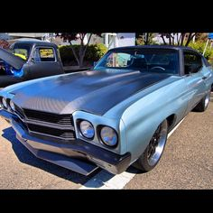 70 chevelle factory protouring grey brushed chin spoiler carbon fiber hood