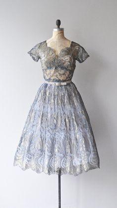 Fossilette dress vintage 1950s dress lace 50s by DearGolden